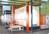 Small whirlwind second-stage             recycle spray booth