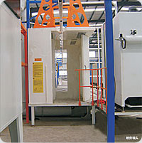Magic rapid color changing spray booth
